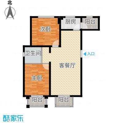 香公馆98.78㎡A户型2室2厅1卫