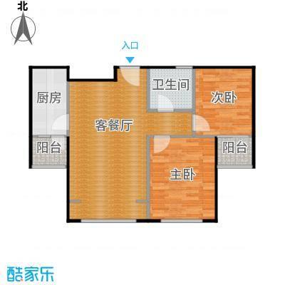 京汉君庭87.00㎡B2约户型10室