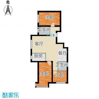 亿隆富贵名苑98.83㎡户型3室1厅2卫1厨
