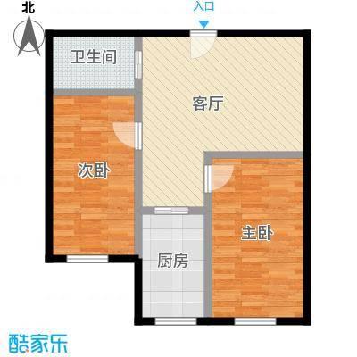 亿隆富贵名苑59.88㎡户型2室1厅1卫1厨