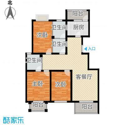 香公馆133.26㎡G户型3室2厅2卫