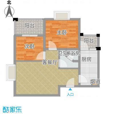 百隆东外滩花园53.03㎡B方户型10室