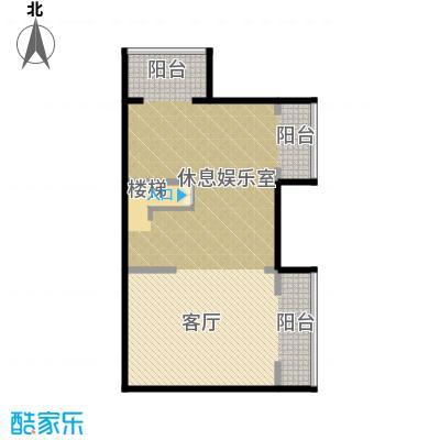 孔雀海100.44㎡四联排北入A地下一层户型10室