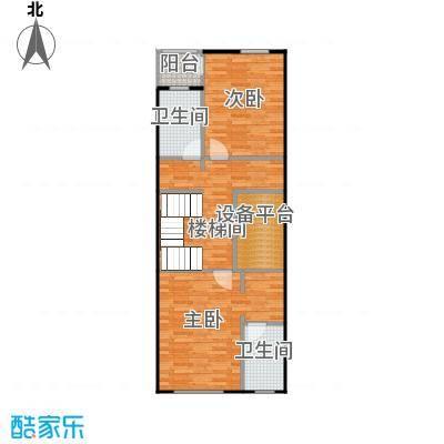 孔雀海80.44㎡四联排北入B二层户型10室