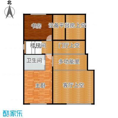 中海国际社区88.00㎡跃层F二层户型2室1卫
