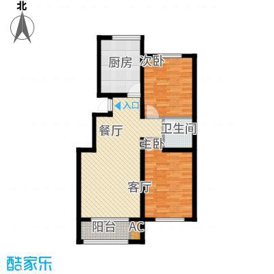 蓝山世家80.36㎡1-D反二室一号楼二单元户型10室