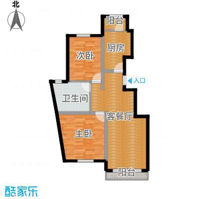 孔雀海97.00㎡8/9号楼A1户型2室2厅1卫