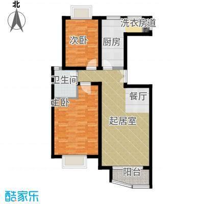 夏威夷水岸1号85.31㎡F标准层公寓户型10室