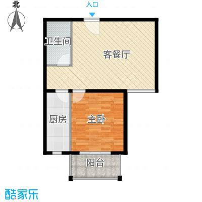 香公馆67.51㎡B户型1室1厅1卫