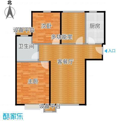京汉君庭89.00㎡B1和B1反约户型10室