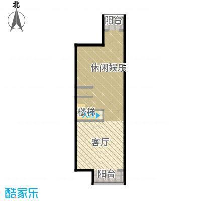 孔雀海84.25㎡四联排北入B地下一层户型10室