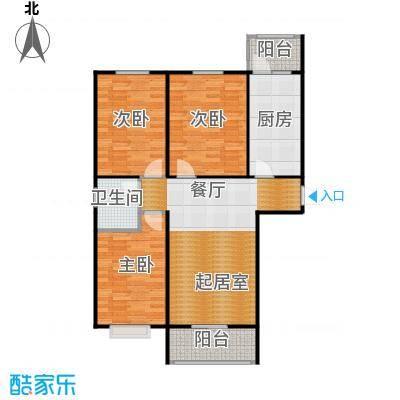 盛世家园110.00㎡1号楼A3户型3室2厅1卫