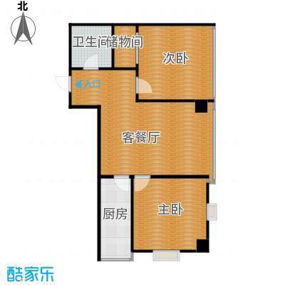 宜家国际公寓60.00㎡户型2室1厅1卫1厨
