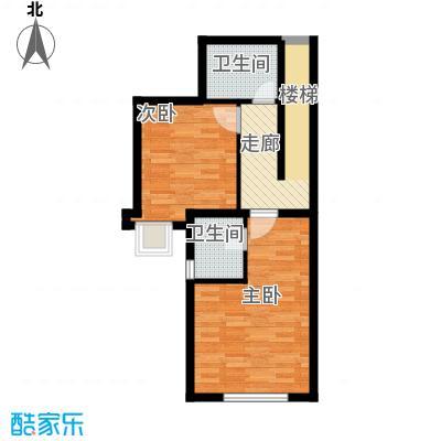世茂・萨拉曼卡50.80㎡叠拼别墅下叠B1二层户型10室