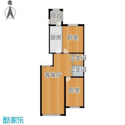 金嘉水岸93.07㎡户型10室