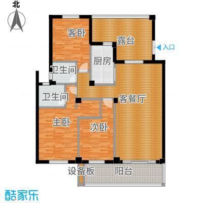 BOBO城142.82㎡二期小高层B户型3室1厅2卫1厨