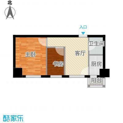 中安美寓65.41㎡小高层B户型1室1厅1卫
