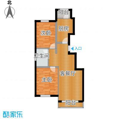 孔雀海90.00㎡8/9号楼A户型2室2厅1卫