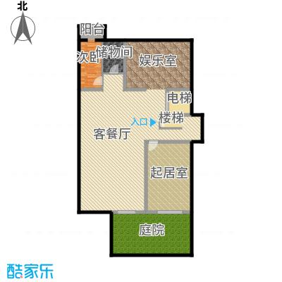 孔雀海166.23㎡独栋C地下一层户型10室
