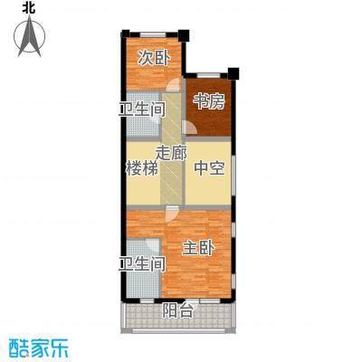 孔雀海98.40㎡四联排北入A二层户型10室