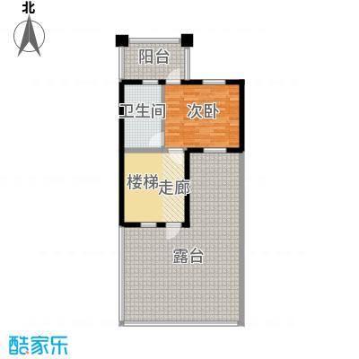 孔雀海88.96㎡四联排北入A三层户型10室