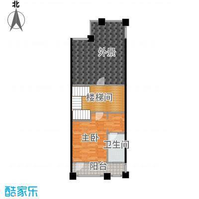 孔雀海78.48㎡四联排北入B三层户型10室