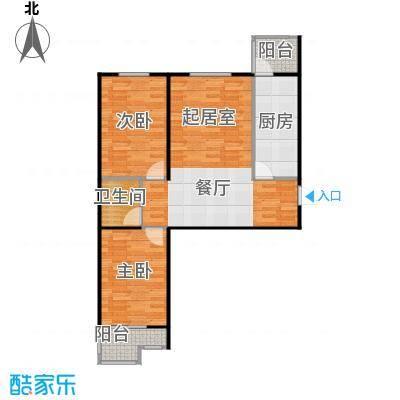 盛世家园80.00㎡1号楼A2户型2室2厅1卫