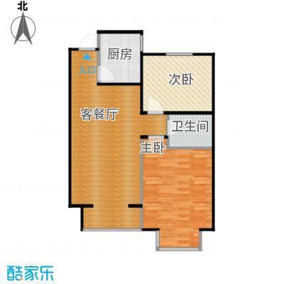 西堤国际88.31㎡B6户型2室1厅1卫1厨