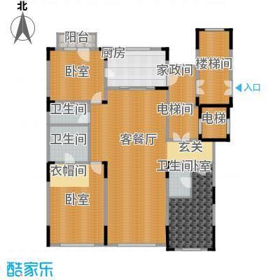 中海紫金苑200.00㎡B户型3室2厅3卫