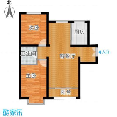 天洋城4代99.80㎡图为B3`反户型2室2厅1卫