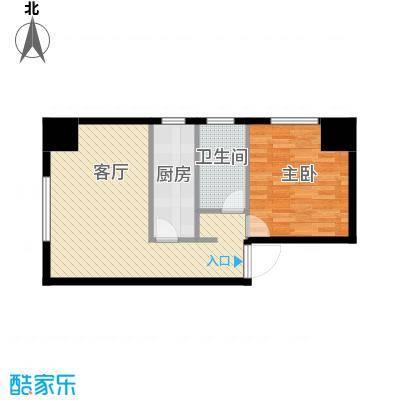 中安美寓55.03㎡小高层A户型1室1厅1卫
