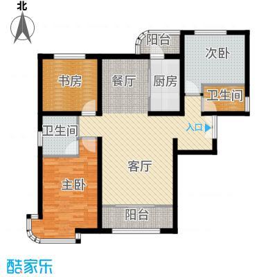 天洋城4代121.00㎡图为C1户型3室2厅2卫