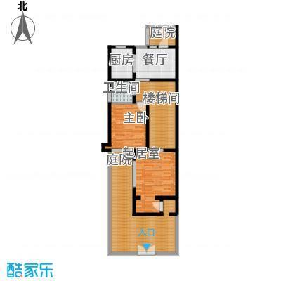 世茂・萨拉曼卡102.84㎡叠拼别墅下叠B1一层户型10室