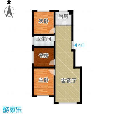 万晟金地公馆99.69㎡A5户型3室2厅1卫