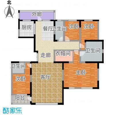 中信御园252.00㎡户型4室2厅3卫