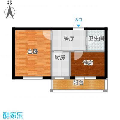 中安美寓54.86㎡小高层C户型1室1厅1卫