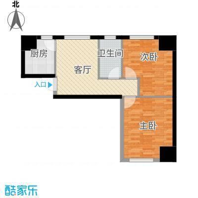 中安美寓76.05㎡小高层A1a户型2室1厅1卫