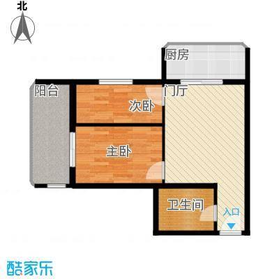 黄金SOHO69.00㎡B#A户型2室1卫1厨