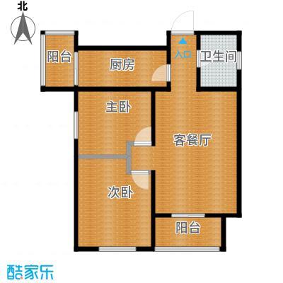 中兴和园89.00㎡4#2单元-02-B6二室户型2室1厅1卫1厨