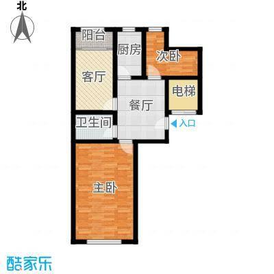 天伦中央广场89.21㎡I户型3室1厅1卫