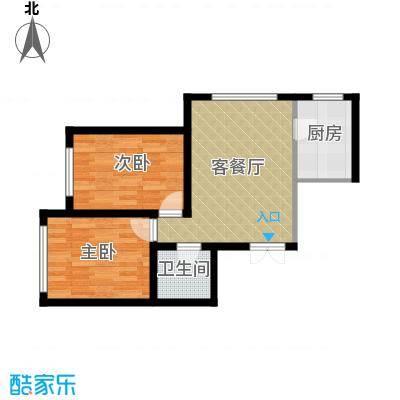 万晟金地公馆58.85㎡A3户型2室1厅1卫