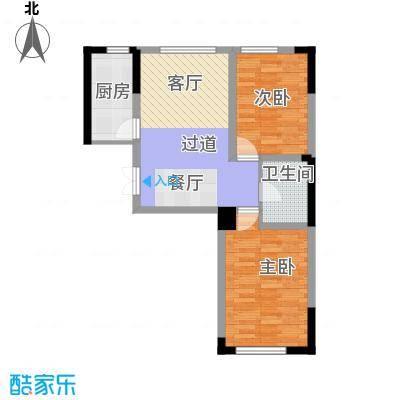 万晟金地公馆69.18㎡E3户型2室1厅1卫