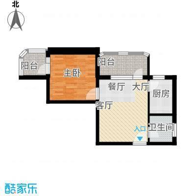 黄金SOHO58.00㎡A#H户型1室1卫1厨