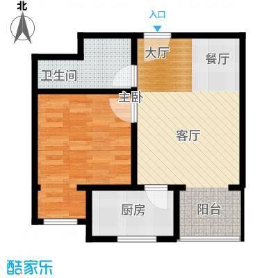 黄金SOHO68.00㎡B#C户型1室1卫1厨