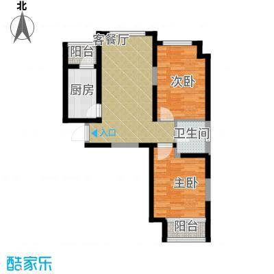 @北京72.47㎡B2户型2室1卫1厨