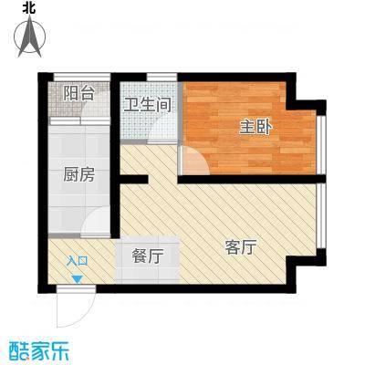@北京50.54㎡C3户型1室1厅1卫1厨