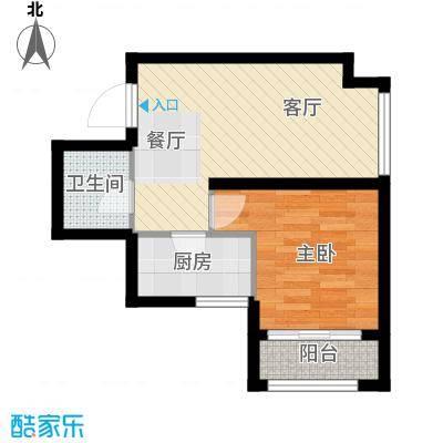 @北京53.06㎡C4户型1室1厅1卫1厨