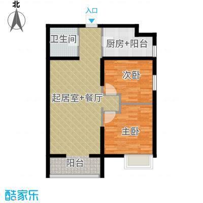 中兴和园89.00㎡5#3单元-03-B14二室户型2室1卫