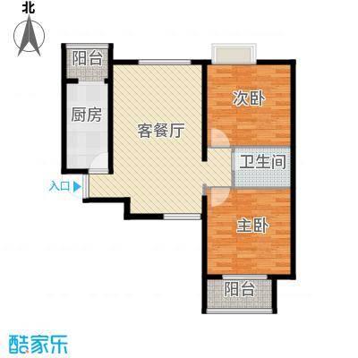 中兴和园89.00㎡6#1单元-04-B7二室户型2室1厅1卫1厨