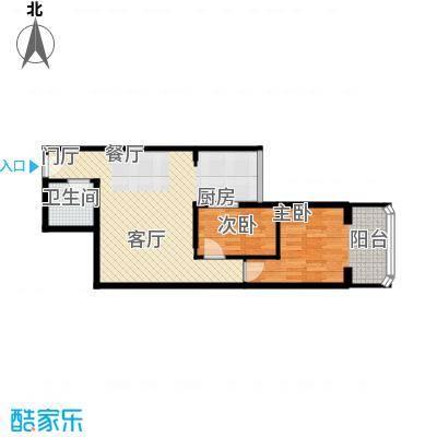黄金SOHO69.00㎡A#B户型2室1卫